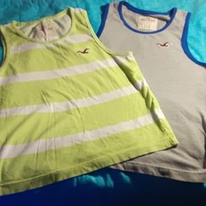 2 Hollister Mens tank tops muscle fit